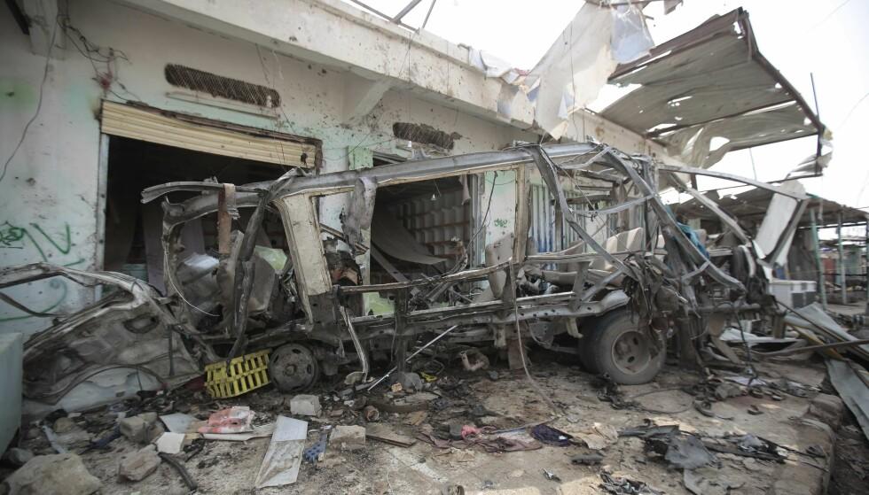 DREPT: 40 barn var blant de 51 som ble drept i det saudiledede flyangrepet mot en skolebuss nord i Jemen torsdag i forrige uke. Mandag var det massebegravelse i hovedstaden Sana. Foto: Hani Mohammed / AP / NTB scanpix