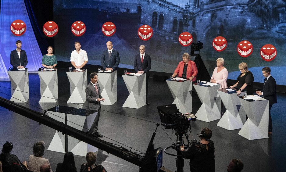 SLIK PRESTERTE DE: Vi har trillet terning på alle partilederne etter kveldens debatt. Foto: Hans Arne Vedlog / Dagbladet