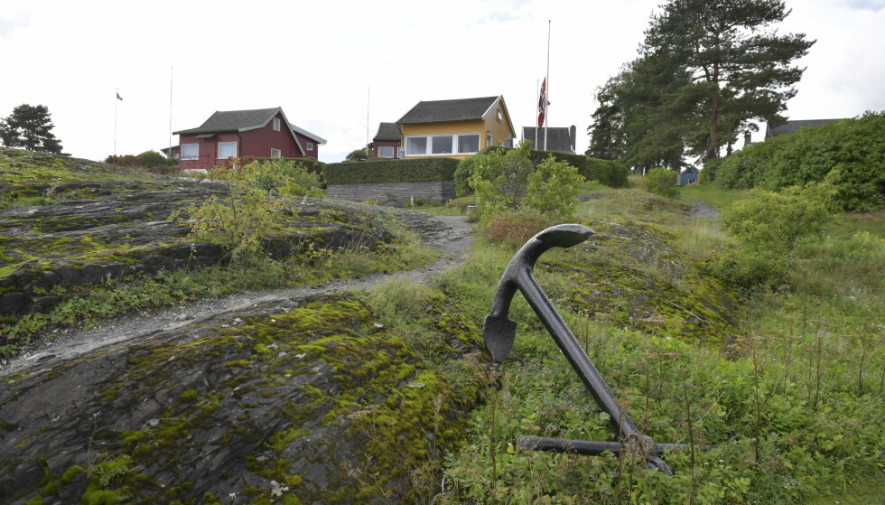 KASTET BORTOVER: Dette ankeret skal tiltalte ha kastet bortover før han gikk løs på 59-åringen på Nakholmen. Foto: Lars Eivind Bones / Dagbladet
