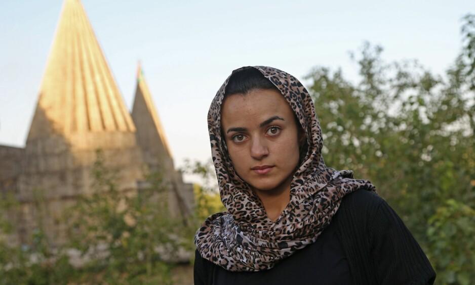 TILBAKE: Ashwaq ble så opprørt da hun møtte IS-overgriperen på gata i Tyskland, at hun nå er tilbake i Nord-Irak. Foto: AFP