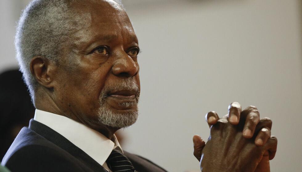 GÅTT BORT: Kofi Annan var generalsekretær i FN. Foto: Luca Bruno / AP