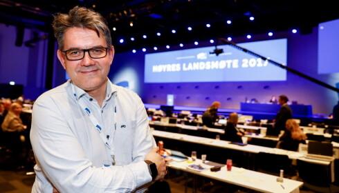 HAR KLAGET INN FORLAGET: Tom-Christer Nilsen (H) har klaget inn Cappelen Damm til Forbrukertilsynet. Foto: Terje Pedersen / NTB Scanpix
