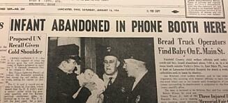 Babyen ble forlatt i en telefonkiosk. 64 år seinere er mysteriet løst