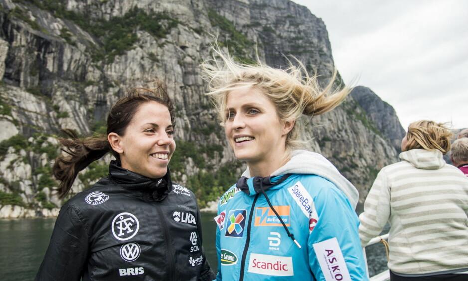 TO NASJONALE HELTER: Hva skjer med skisporten når de nasjonale skiidolene Charlotte Kalla og Therese Johaug dels forsvinner fra nasjonalt TV? FOTO: Andreas Lekang / Dagbladet