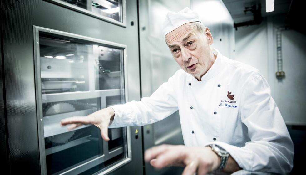 POSITIV: Rolf Rune Forsberg er glad for at sjokoladefabrikken hans nå er reddet. Foto: Christian Roth Christensen / Dagbladet