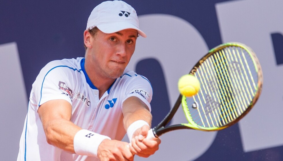 TENNISTALENT: Casper Ruud kom seg ikke videre i Brasil. Foto: AFP PHOTO / dpa / Daniel Bockwoldt / Germany OUT