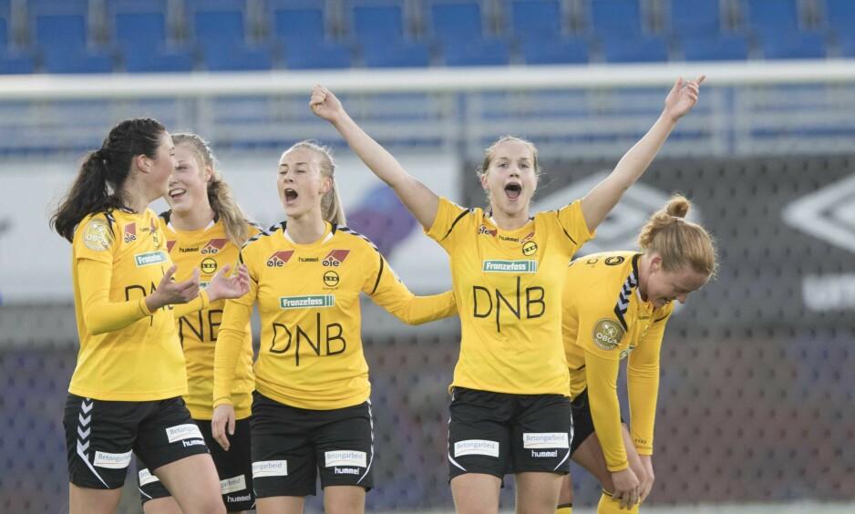 HERJER: Guro Reiten slutter ikke å score. Foto: Terje Pedersen / NTB scanpix