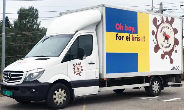 KLAR FOR AVREISE: Tines O'boykrisehjelp kjører fredag morgen kl. 08.00. Foto: Tine