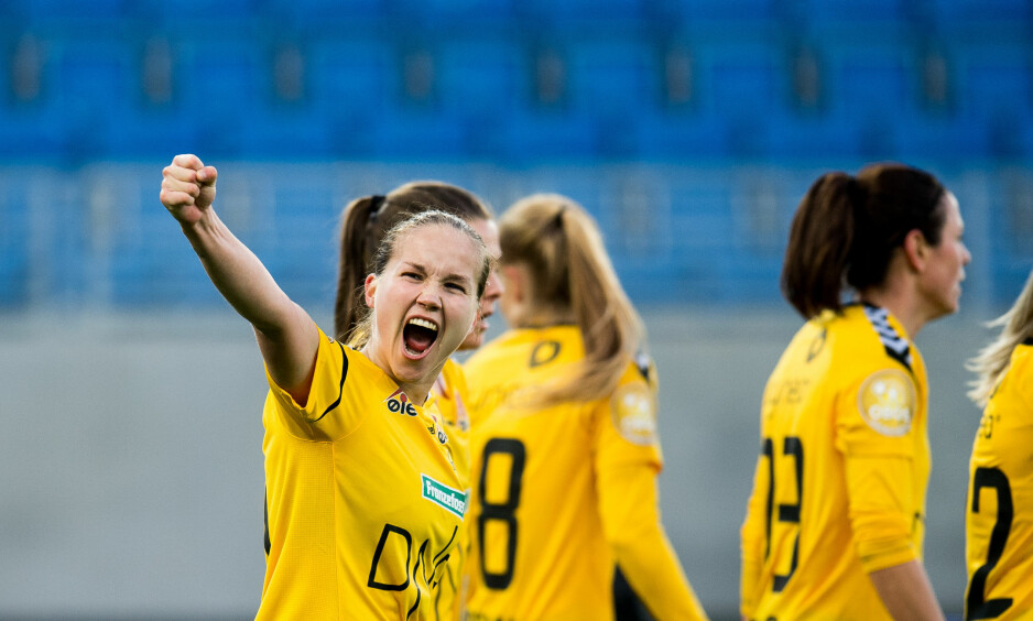 GULL: LSK kvinner har vunnet Toppserien for femte år på rad. Foto: Jon Olav Nesvold / Bildbyrån