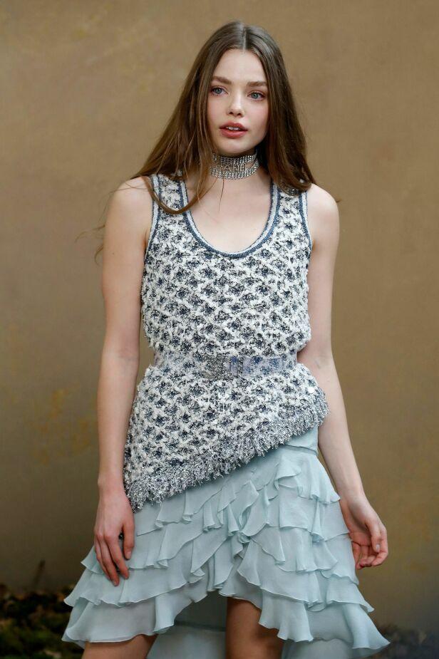 MODELLYNDLING: Kristine Frøseth har på få år imponert i modellbransjen, der hun har gjort kampanjer for blant annet Prada, Victoria's Secret og See by Chloé. Foto: NTB Scanpix