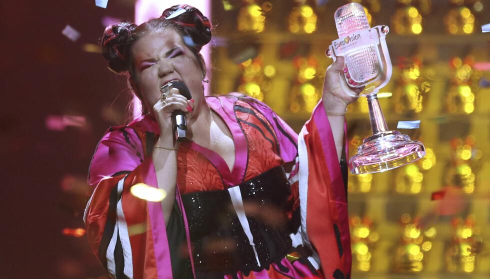 VANT: Israelske Netta stakk av med seieren i Eurovision 2018 med låta «Toy». Nå har en lang rekke europeiske artister startet en boikott av neste års finale. Foto: NTB Scanpix
