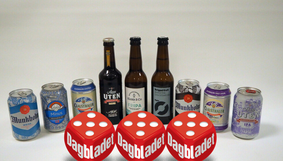 ALKOHOLFRITT: Vi har testet ni øl uten alkohol. Tre av dem kjøper vi gjerne igjen.
