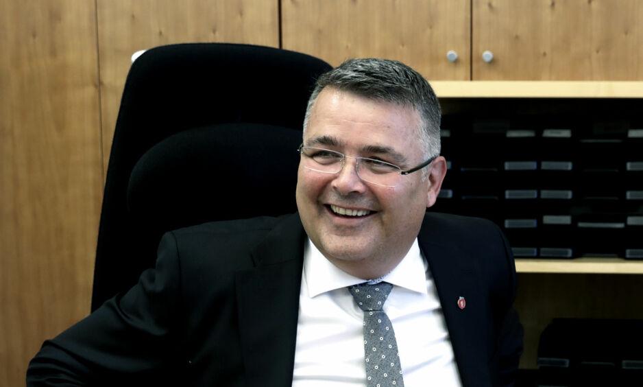 JOBBET FOR KONSESJON: Daværende stortingskandidat og olje- og energiminister Kjell-Børge Freiberg (Frp). Foto: Berit Roald / NTB scanpix
