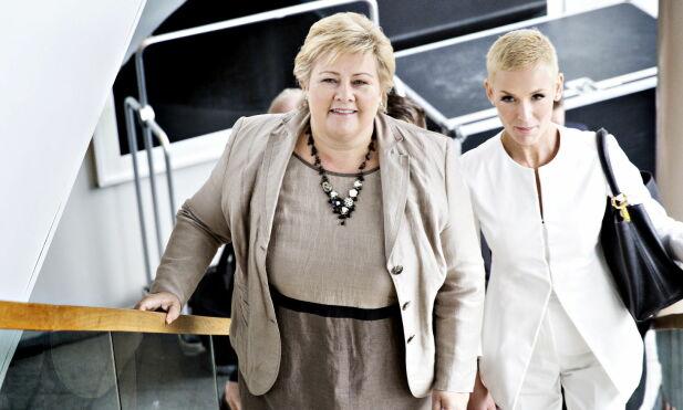 KOMMET LANGT: EAT har innflytelsesrike støttespillere. Her er Gunhild Stordalen med statsminister Erna Solbeg i 2015. Foto: Nina Hansen / Dagbladet