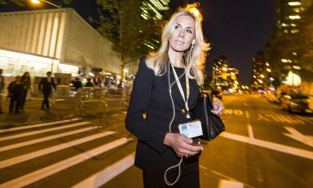 SEPTEMBER 2014: Gunhild Stordalen fotografert i New York da hun holdt EAT-seminar for Generalforsamlingen i FN. En måned seinere fikk hun diagnosen som endret livet hennes. Foto: Johannes Worsøe Berg / Dagbladet
