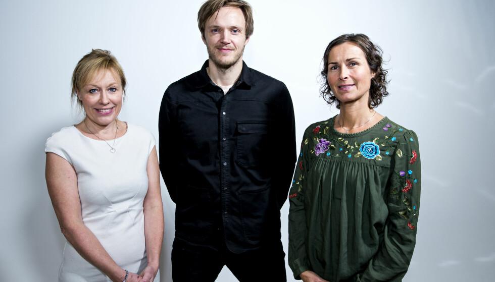TESTPANELET: Annechen Bahr Bugge, Svein Trandem, Unni Vada Coldevin har testet nye dagligvarer for Dagbladet. Foto: John T. Pedersen