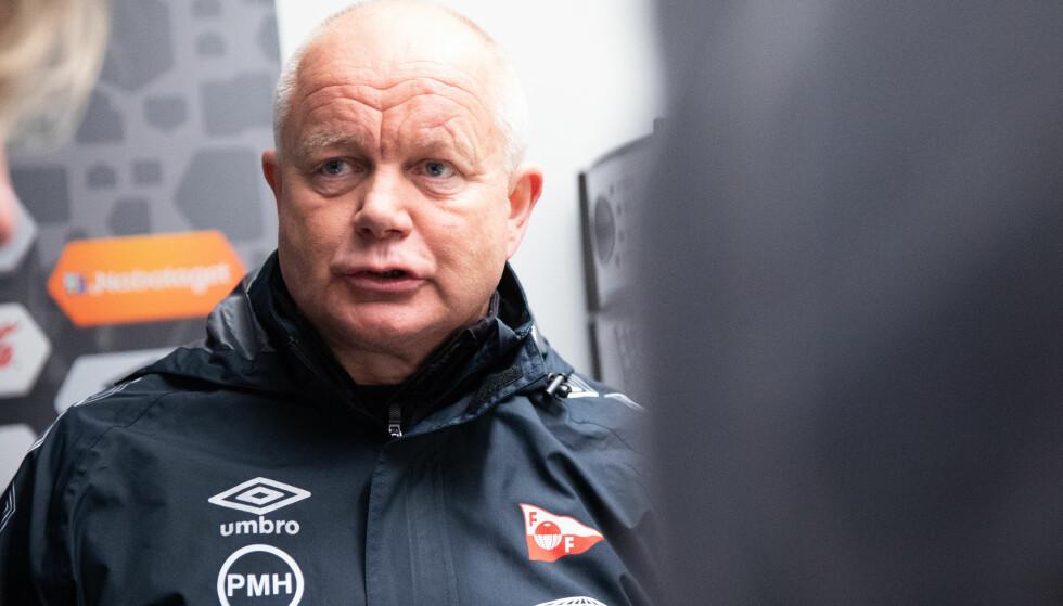 Per-Mathias Høgmo lykkes ikke med å ta Fredrikstad opp én divisjon. Foto: Audun Braastad / NTB scanpix