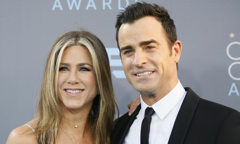 TIDLIGERE STJERNEPAR: Det er sju måneder siden skuespillerparet Jennifer Aniston og Justin Theroux valgte å annonsere at de hadde gått hver til sitt. Først nå snakker sistnevnte om bruddet. Foto: NTB scanpix