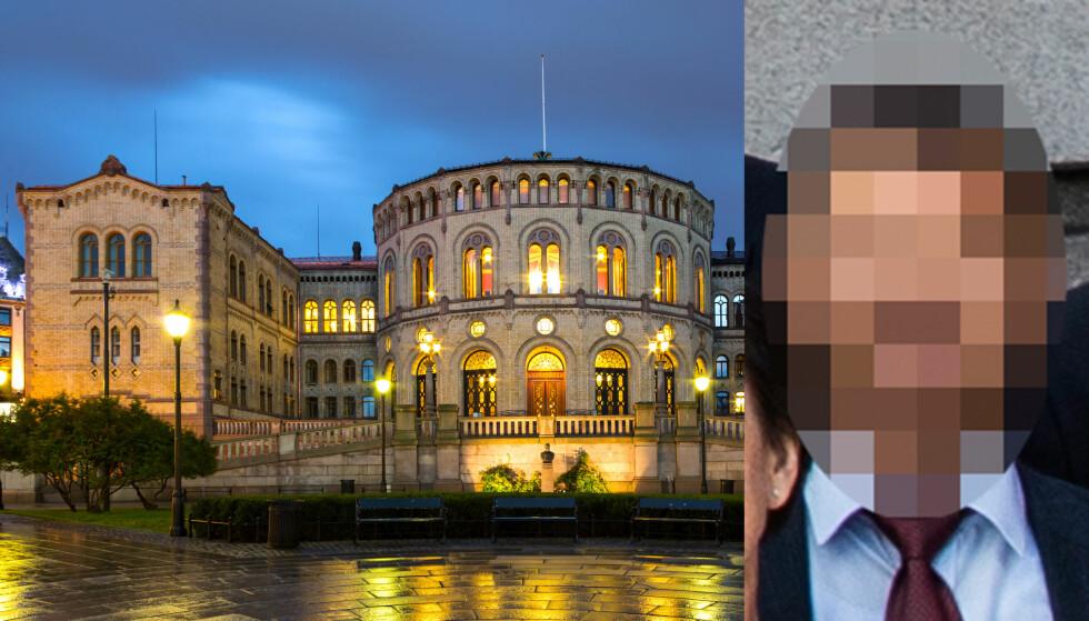 - OPPFØRTE SEG MISTENKELIG: Den spionsiktede russeren (51) deltok på et seminar på Stortinget. Der oppførte han seg ifølge flere personer mistenkelig. Foto: Privat, Dreamer Company / Shutterstock / NTB Scanpix