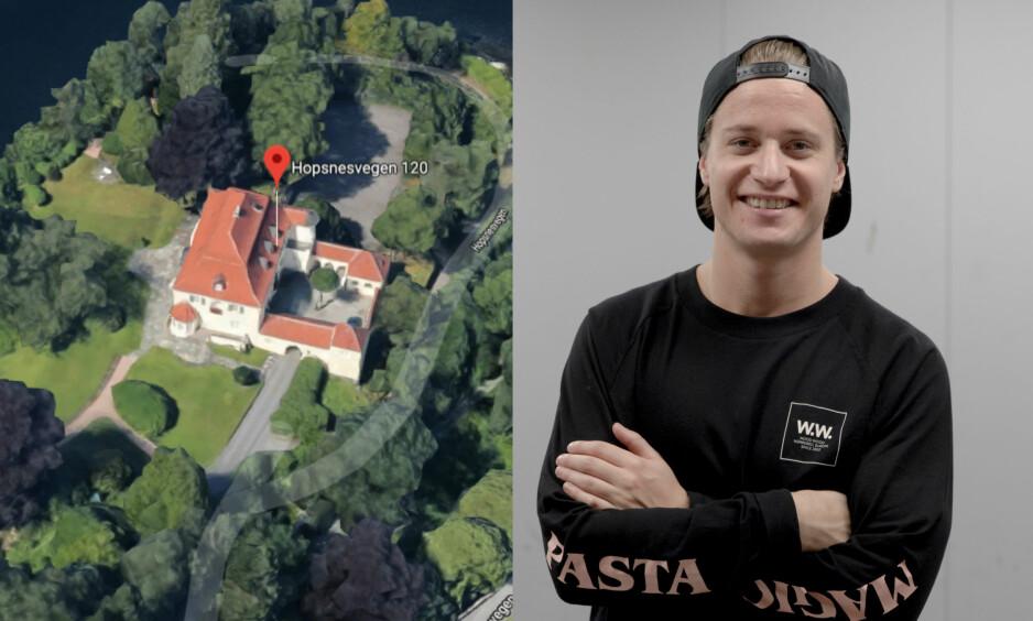 NYTT HJEM: Den norske artisten Kygo har punget ut for privatbolig i Bergen, like ved sitt eget barndomshjem. Foto: Google maps / NTB scanpix
