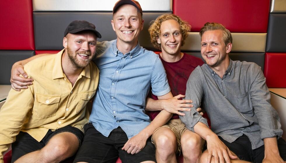 DE NOMINERTE: Ser vi på de Gullruten-nominerte i kategorien «Årets humorprogram» fra 2018, er nominasjonen slik:  «Stories from Norway», «Hvite gutter» (bildet), «Hit for hit» og «Vikingane» (med bare menn i hovedrollene).  Foto: NTB Scanpix.