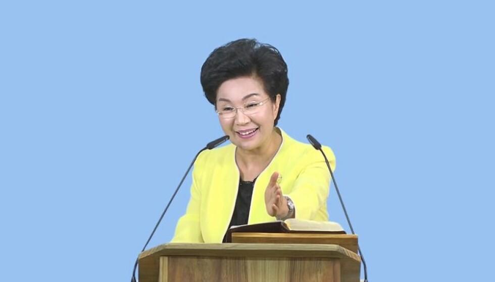 ARRESTERT: Shin Ok-ju ble arrestert i august. Den tidligere sektlederen skal i en årrekke ha utsatt sine følgere for vold og brutale ritualer. Foto: Grace Road Church