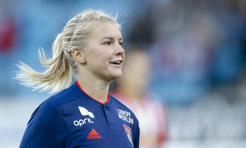 I STORFORM: Ada Hegerberg har scoret tolv mål på like mange kamper i den franske serien i år. Foto: Jan Kåre Ness / NTB scanpix