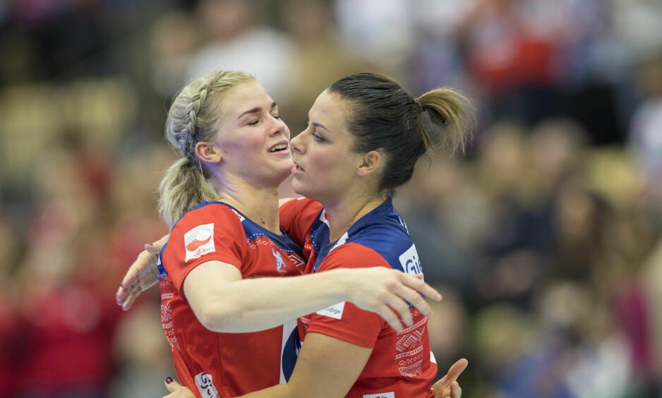STÅR VED DET HUN SA: Håndballstjernen Veronica Kristiansen angrer ikke på at hun kalte det norske mediekorpset for hyener da hun forsvarte Nora Mørk etter VM. Foto: Vidar Ruud / NTB scanpix