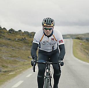 FINNMARK-FRELST: Thor Hushovd på vei til Hammerfest. Foto: Arctic Race of Norway