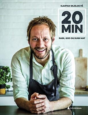 STOPPEKLOKKE: Med litt trening lages maten i den nye boka på rundt 20 minutter. Det har Skjelde sjekket med klokke.