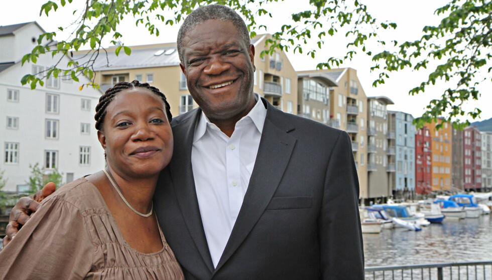 I TRONDHEIM: Fredsprisvinner Denis Mukwege (63) har flere ganger vært i Trondheim og besøkt søsteren Fiffi Mukwege Namugunga (48). Foto: Hilde Wormdahl