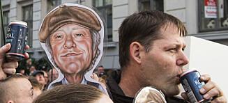 Danskene hyllet sin avdøde landsmann med allsang