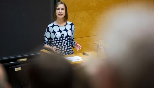 FORUNDRET: Forskningsminister Iselin Nybø (V). Foto: Tore Meek / NTB scanpix
