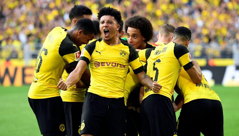 IMPONERER: Borussia Dortmunds Jadon Sancho. Foto: INA FASSBENDER / AFP / NTB Scanpix