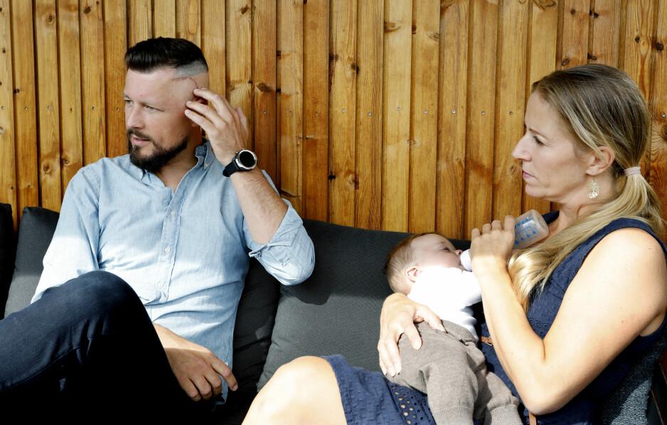Sjokket: Eik var bare noen uker gammel da Nina Jensens samboer Nicolai Roan fikk påvist en aggressiv form for kreft i hjernen. Foto: Kristin Svorte