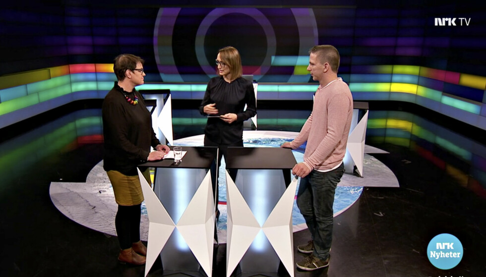 Sa ikke unnskyld: Tolga-ordfører Ragnhild Aashaug møtte Magnus Holøyen til debatt hos NRK. Sistnevnte fikk ingen beklagelse. Faksimile: NRK