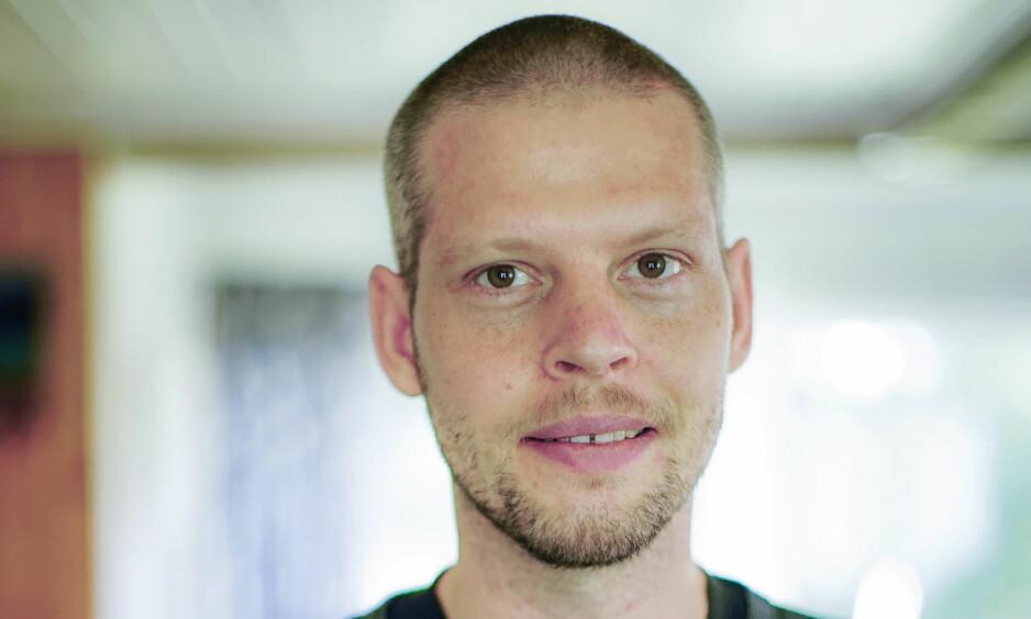 I NORGE: Joshua French ble innlagt på sykehus da han kom hjem til Norge 17. mai ifjor. Bildet er tatt etter at French ble skrevet ut 10. august samme år. Foto: Marie Kvamme-Madsen