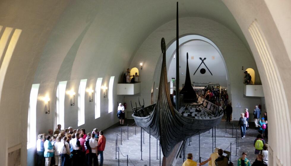 Truet: Osebergskipet på Vikingskipshuset på Bygdøy i Oslo. Foto: Tor Erik Schrøder / NTB scanpix