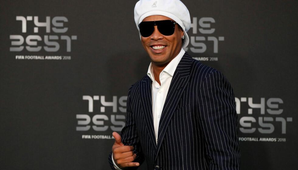 SKAPER REAKSJONER IGJEN: Den brasilianske fotballegenden Ronaldinho. Foto: Reuters/John Sibley