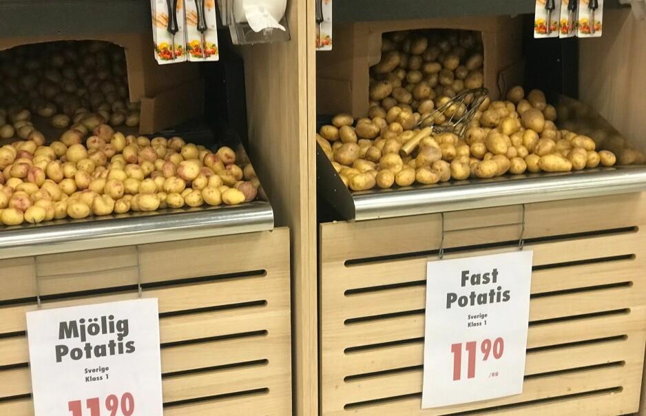 LA LIGGE: Mange plukker med seg en kilo poteter på svensketuren uten å vite at de gjør noe ulovlig. Foto: Dagbladet