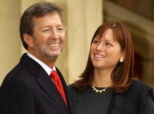 GIFT: Eric Clapton og Melia McEnery giftet seg i 2002. De har tre barn sammen. Foto: NTB scanpix