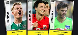 Dagbladet kårer de 50 beste fotballspillerne fra Telemark