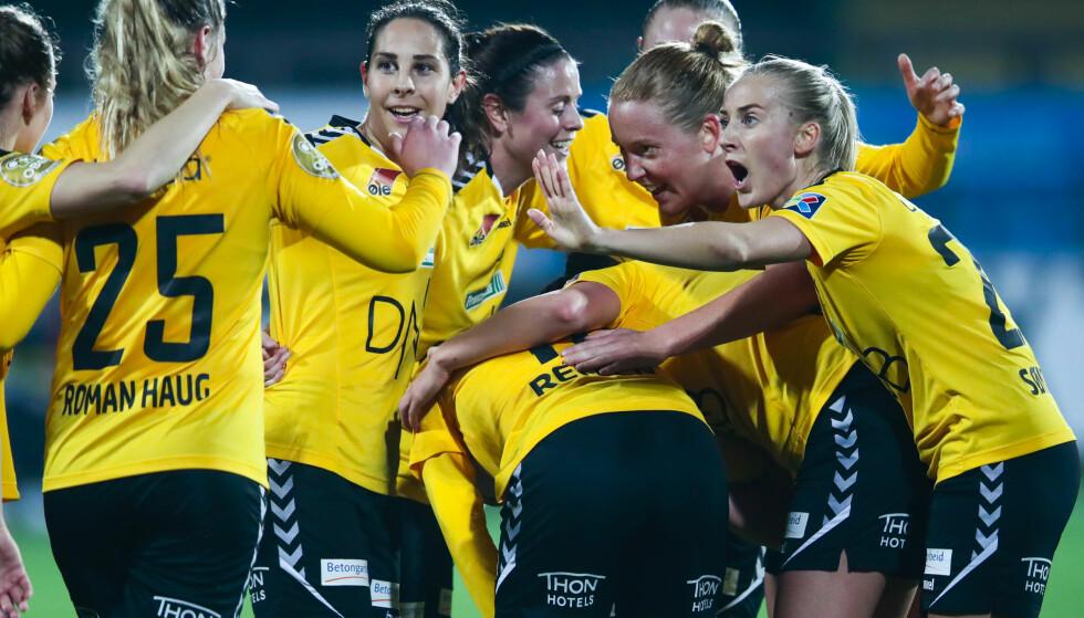 HERJET: Guro Reiten og LSK Kvinner er i kvartfinale i Champions League. Foto: Lise Åserud / NTB scanpix