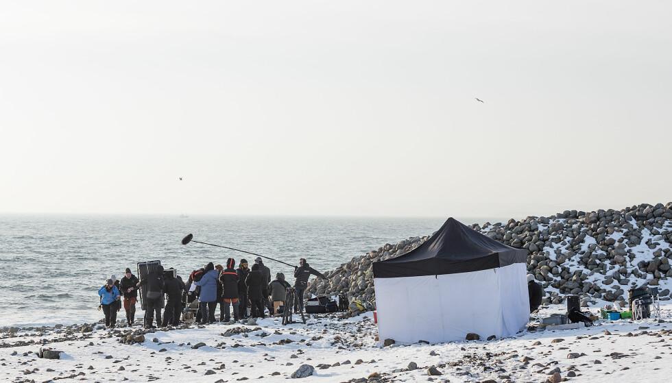 INNSPILLING: Viaplay-serien «Wisting» ble hovedsaklig spilt inn i Larvik og i Oslo. Foto: Cinenord