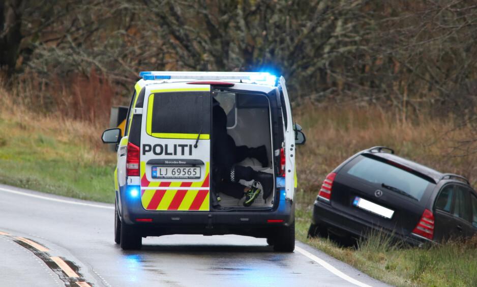 ARRESTERT: En mann i 60-åra ble pågrepet etter å ha angrepet en politimann med kniv. Foto: Kjell Bua