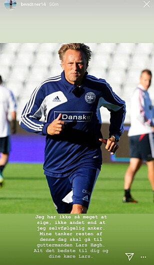 INSTAGRAM-POST: Nicklas Bendtner la ut dette fredag ettermiddag. Skjermdump