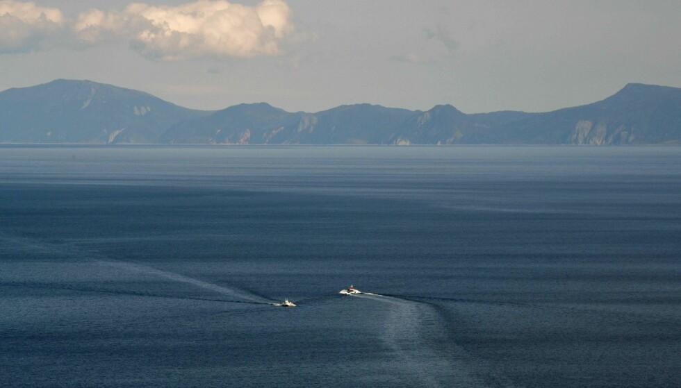 BORTE: Den japanske øya Esanbe Hanakita Kojima har forsvunnet under havoverflaten. Foto: AFP / NTB Scanpix