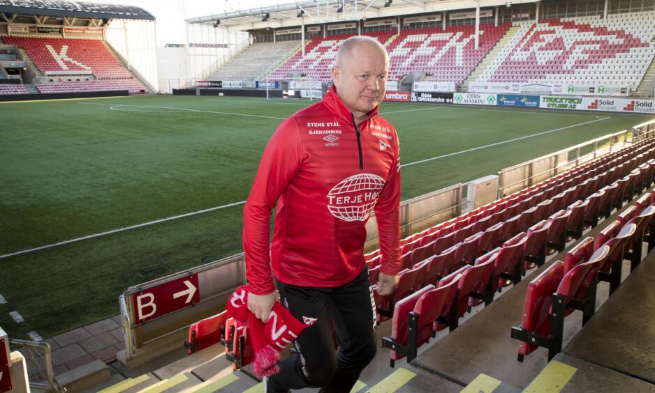 TAP: Per-Mathias Høgmo og hans Fredrikstad kan få det vanskelig med å rykke opp. Foto: Heiko Junge / NTB scanpix