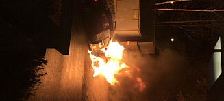 Jaguar brant opp i Holmenkollen