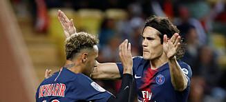 Cavani med hat-trick da Monaco ble slått 4-0